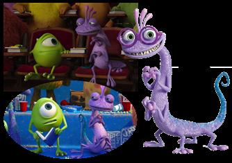 Personnages Disney O Randall Bogue Monstres Cie