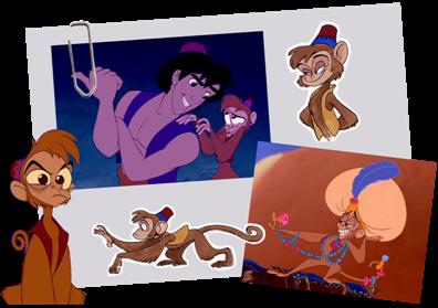 Aladdin Disney Personnages personnages disney °o° abu (aladdin)