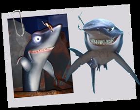 Personnages disney o chumy le monde de nemo - Requin enclume ...