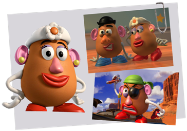 Personnages disney o madame patate toy story - Monsieur patate toy story ...