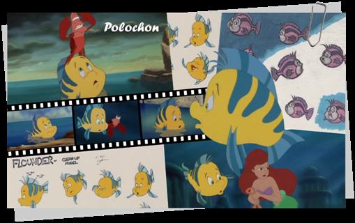 Personnages Disney O Polochon La Petite Sirène