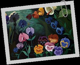 Personnages Disney O Fleurs Alice Au Pays Des Merveilles