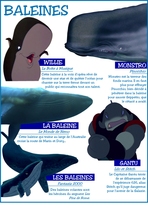 Personnages disney o th me les baleines - Baleine pinocchio ...