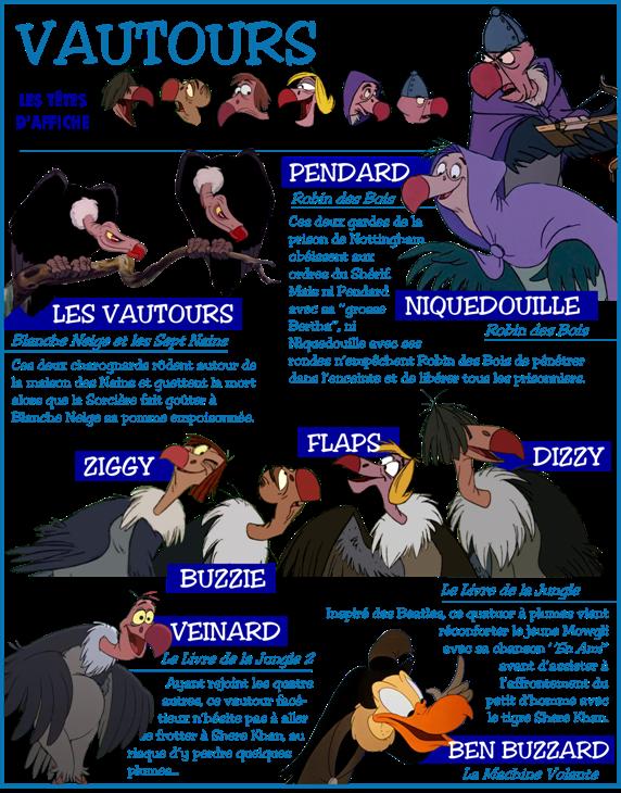 Personnages Disney O Thème Les Vautours