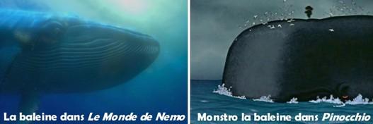 Personnages disney o baleine le monde de nemo - Baleine pinocchio ...