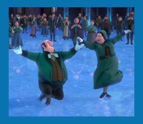 Personnages disney o kai gerda et les domestiques la reine des neiges - Personnage de la reine des neiges ...